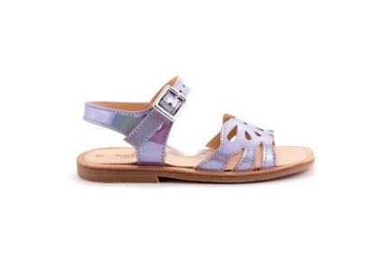 Sandaal Vlindermotief Lila Spiegel
