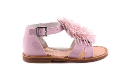 Sandaal Roze Franje Roze Gesloten Hiel