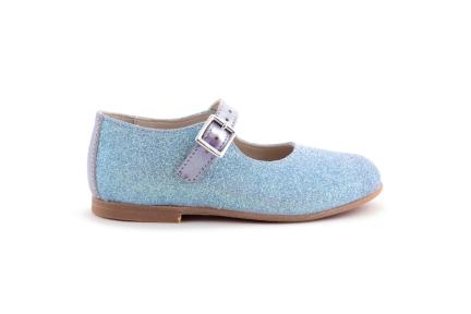 Schoen gesp glitter blauw