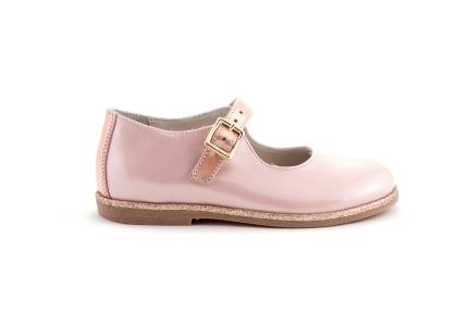 Schoen gesp roze lak met glitter zooltje