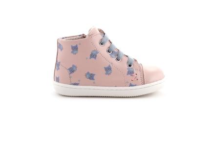 Sneaker Uiltjes Blauw roze Met Lak Tip