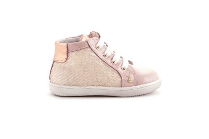 Sneaker glitter en spiegel met tip roze lak