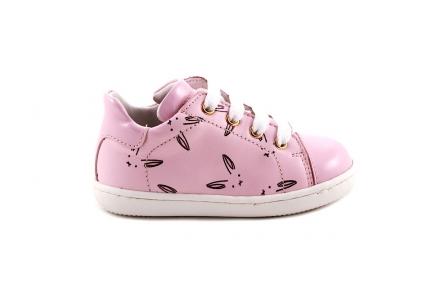 Sneaker Roze Konijntjes Klein Laag