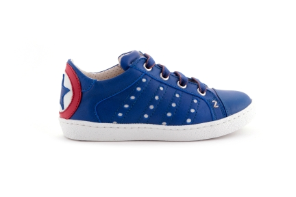 Sneaker laag donkerblauw ster blauw rood blauw