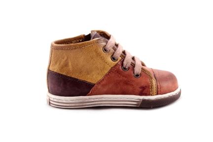 Sneaker Oker Met Veter Multicolor Waxed