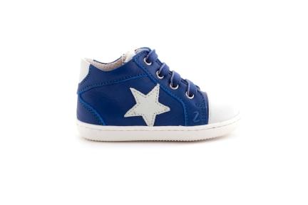 Sneaker Ster Wit Blauw En Rubber Tip