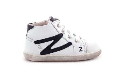 Zecchino d'oro sneaker wit  donkerblauw bliksem