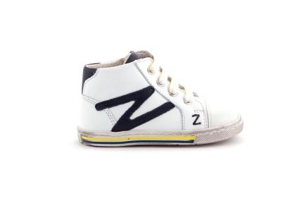 Sneaker Bliksem Geel En Blauw
